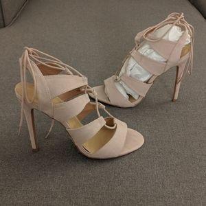 """5"""" nude high heels"""